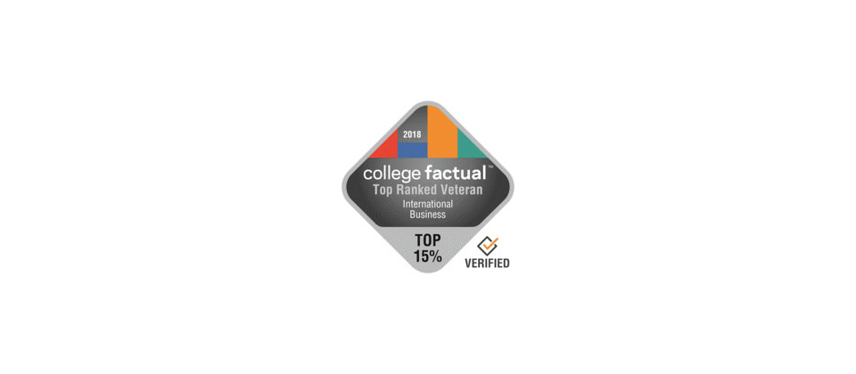college factual international business badge 2018