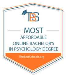 Most Afforable Online Pyschology degree badge